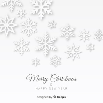 Świąteczne płatki śniegu w stylu papieru