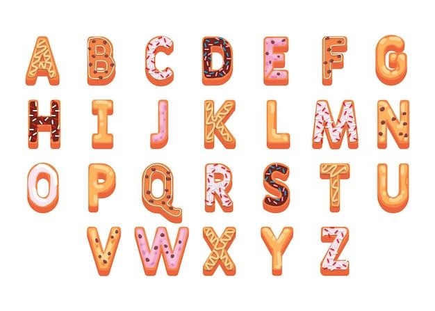 Świąteczny alfabet z piernika