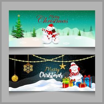 Świąteczny baner lub nagłówek i święty mikołaj