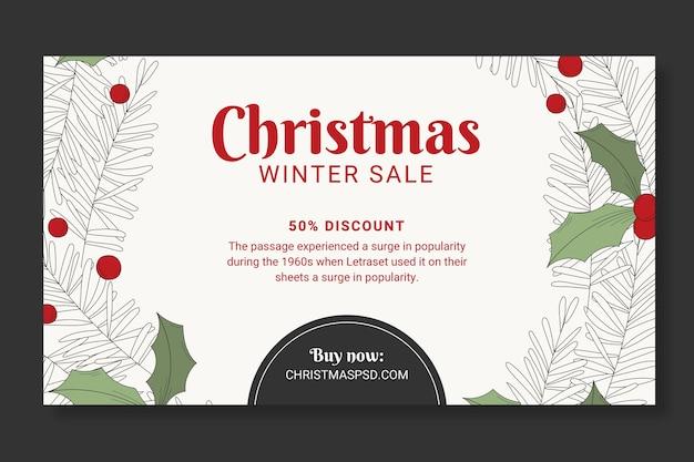 Świąteczny baner szablonu sprzedaży