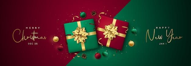 Świąteczny baner z promocjami i ofertami specjalnymi