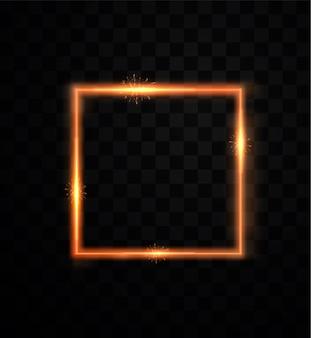 Świąteczny element wystroju. lśniące złote lekkie kształty geometryczne. złote ramki ozdobne.