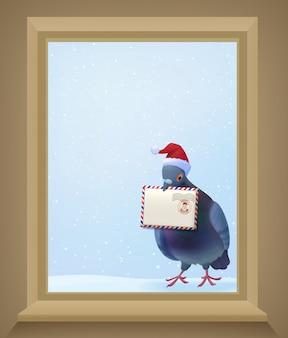 Świąteczny gołąb pocztowy