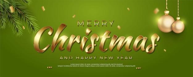 Świąteczny i szczęśliwego nowego roku sztandar z świąteczną dekoracją odpowiednią na boże narodzenie