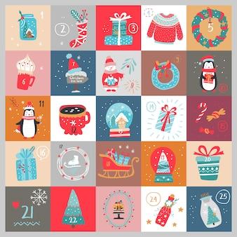 Świąteczny kalendarz adwentowy