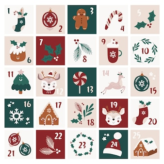 Świąteczny kalendarz adwentowy.