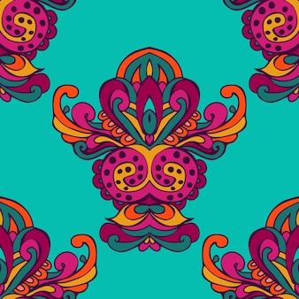 Świąteczny kolorowy plemienny etniczny bezszwowy wzór wektorowy ozdobny