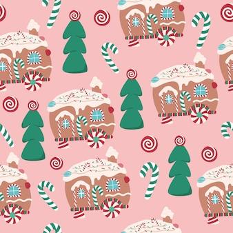 Świąteczny piernik van herbatniki słodkie desery wzór