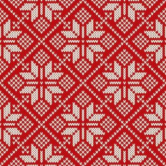 Świąteczny projekt swetra na wełnianej dzianinie. wzór