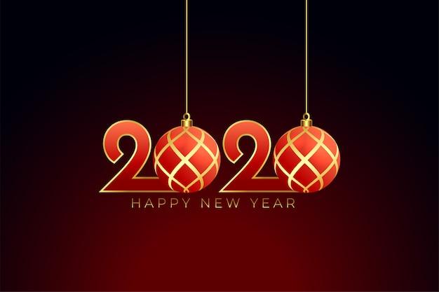 Świąteczny styl 2020 szczęśliwego nowego roku