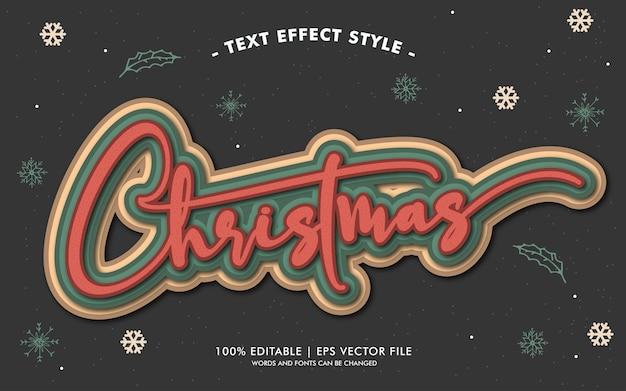 Świąteczny styl efektów tekstu