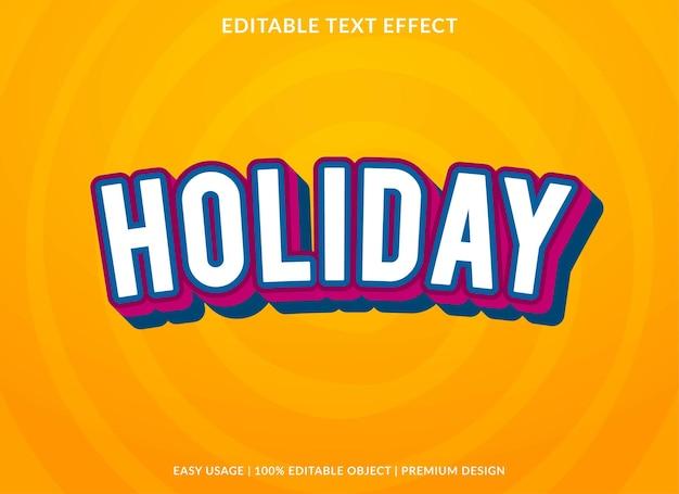 Świąteczny szablon efektu tekstowego w stylu premium