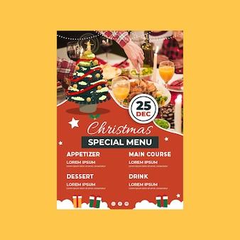 Świąteczny szablon menu świąteczne