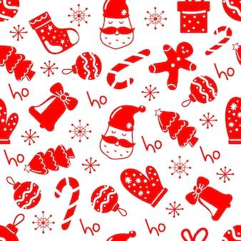 Świąteczny wzór do pakowania lub papieru prezentowego do świątecznej dekoracji