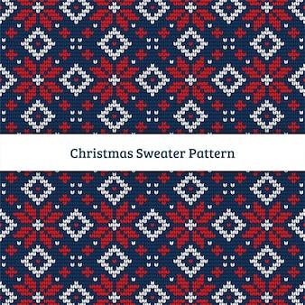 Świąteczny wzór swetra