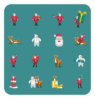 Świąteczny zestaw uroczych i zabawnych postaci