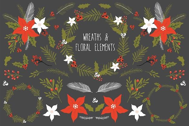 Świąteczny zestaw z kwiatami.