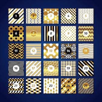 Świąteczny złoty kalendarz adwentowy