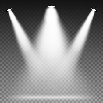 Światła białego światła punktowego