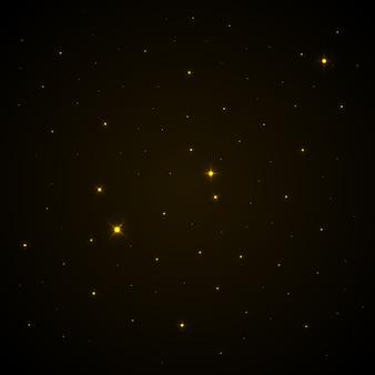 Światła gwiazd na ciemnym niebie. tło