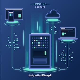 Światła hosting tło usługi