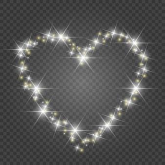 Światła i rozmycia. miłość serce tło. świetliste serce.