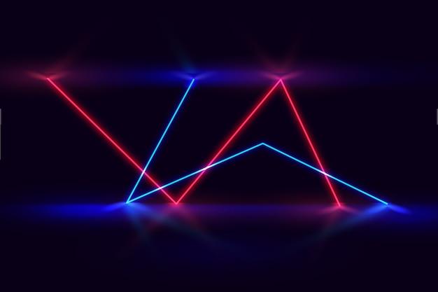 Światła neonowe w tle