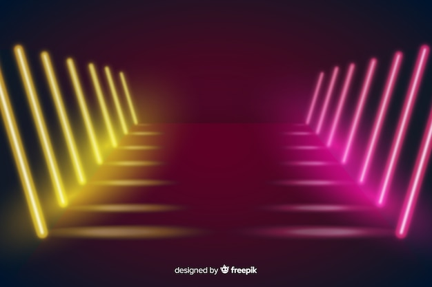 Światła sceniczne neonowe tło