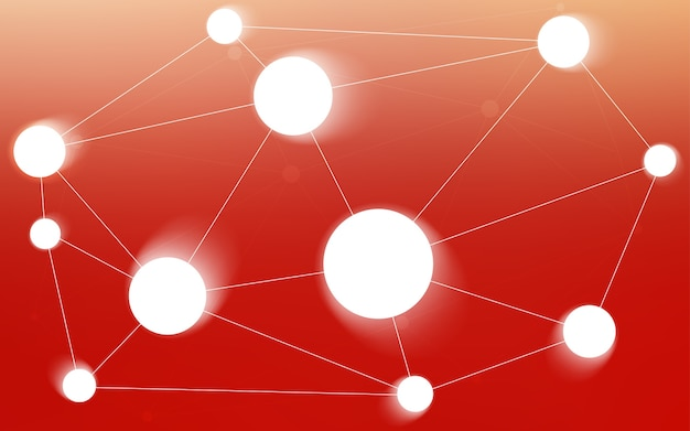 Światło czerwone tło z bąbelkami