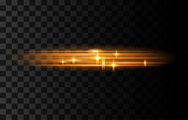 Światło i paski poruszają się szybko