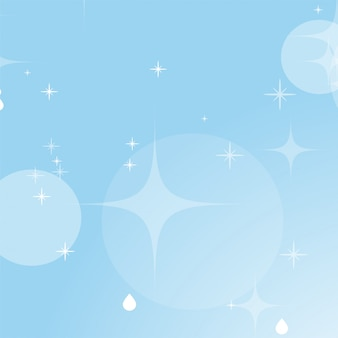 Światło niebieskie tło z gwiazdami i bokeh.