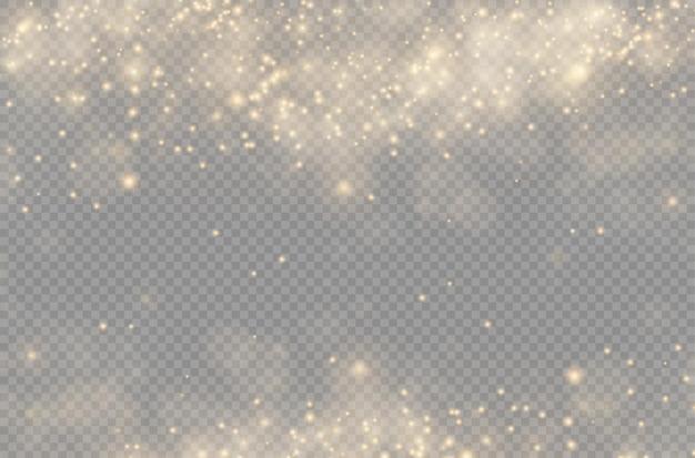 Światło świecące światło bokeh świecąca gwiazda słońce iskry efekt flary obiektywu żółty pył boże narodzenie