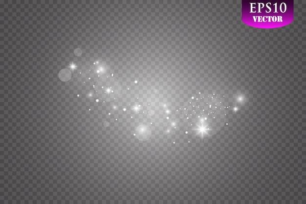 Światło z gwiaździstym blaskiem. efekt magiczny. efekty świetlne