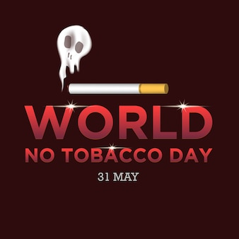 Światowa ilustracja dzień bez tytoniu