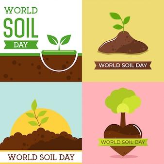 Światowa ilustracja dzień gleby projekt wektor