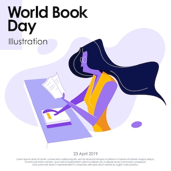 Światowa ilustracja dzień książki