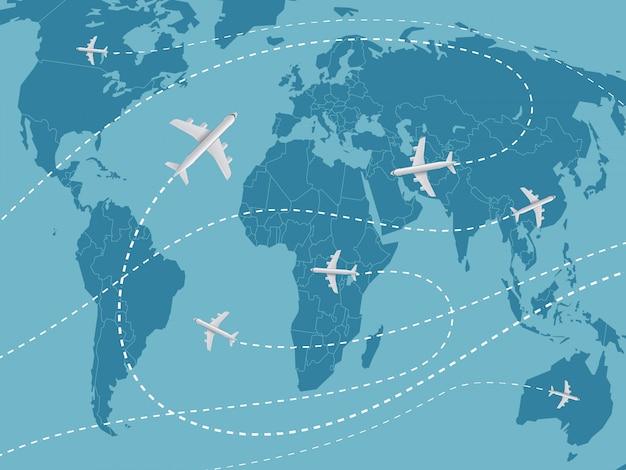 Światowa koncepcja podróży.