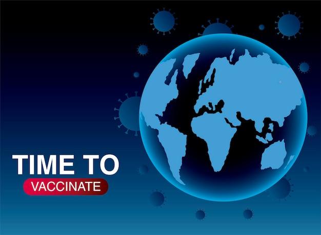 Światowa szczepionka, czas zaszczepić ochronę przed ilustracjami