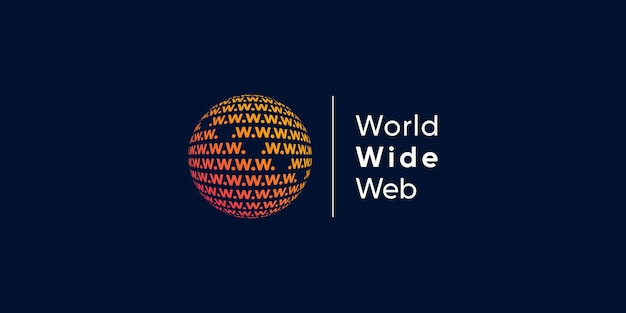 Światowe logo z kreatywną koncepcją nowoczesnej technologii premium wektorów część 2