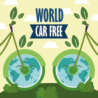 Światowe rowery ekologiczne bez samochodu