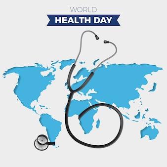 Światowego dnia zdrowia tło z stetoskopem