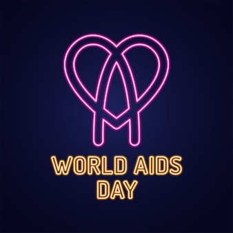 Światowy dzień aids 1 grudnia ikona infekcji hiv tekstem.
