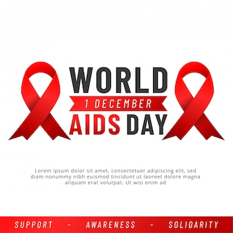 Światowy dzień aids. aids awareness red ribbon.