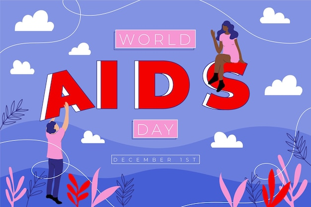 Światowy dzień aids i ludzie pomagający