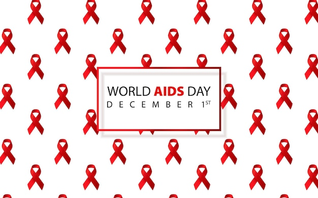 Światowy dzień aids świadomość aids czerwona wstążka aids światowy dzień aids 1 grudnia