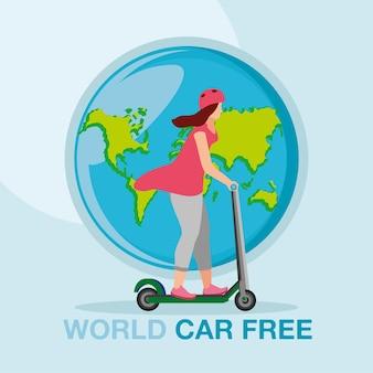 Światowy dzień bez samochodu plakat