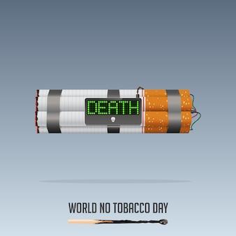 Światowy dzień bez tytoniu, 31 maja nie palić plakat.