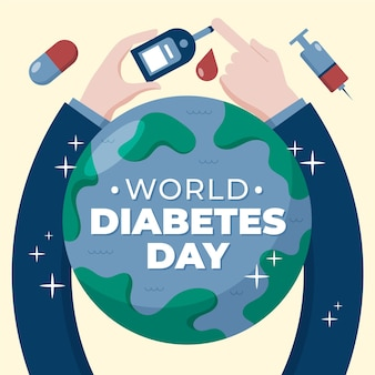 Światowy dzień cukrzycy z badaniami odcisków palców