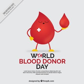 Światowy dzień dawcy krwi tle