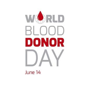 Światowy dzień dawcy krwi typografii plakat